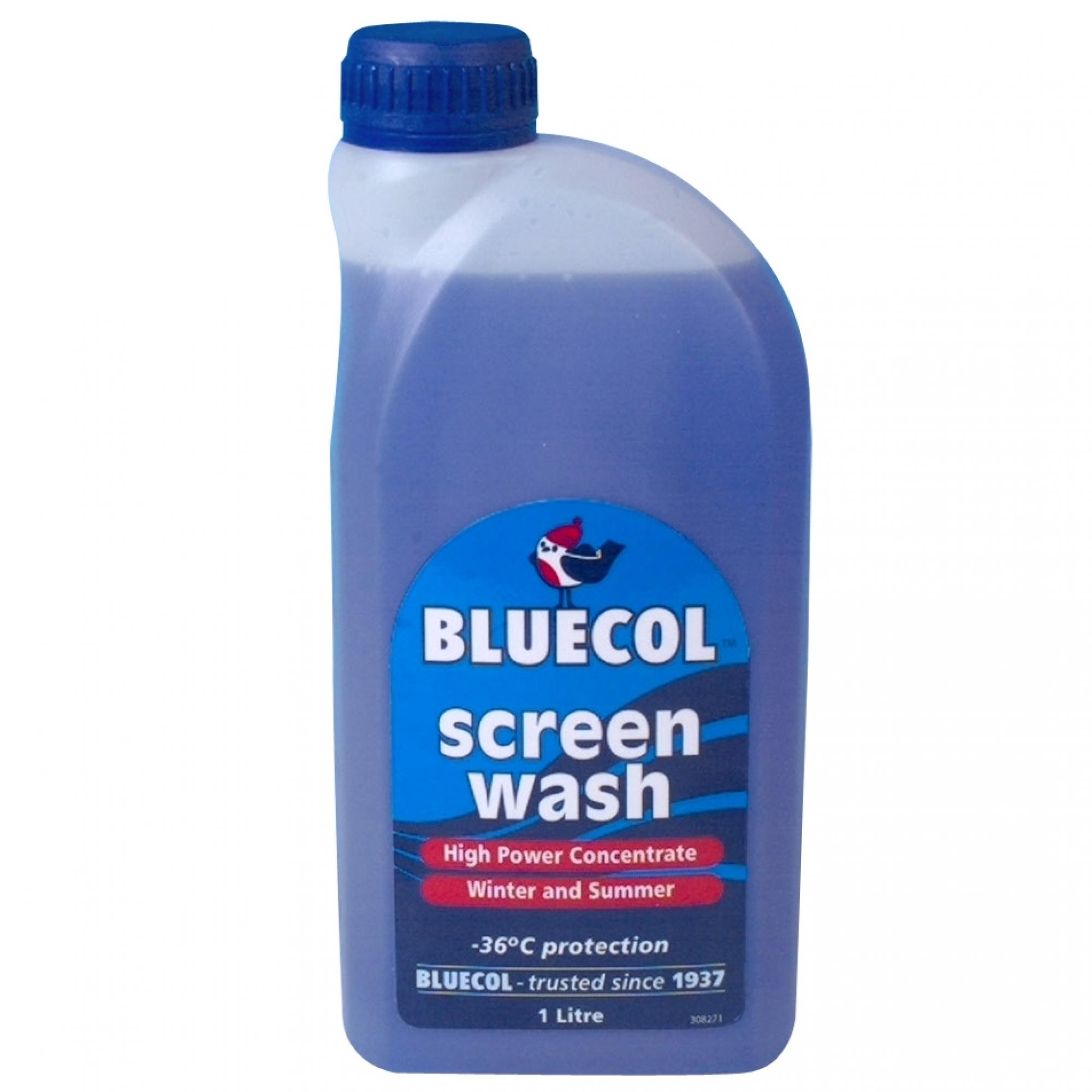 Bluecol screen wash